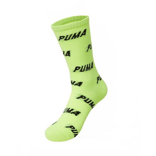 【Luxury】PUMA ALL OVER CREW SOCKS 長襪 襪子 綠 白 男女襪 運動襪 韓國代購 正品出售