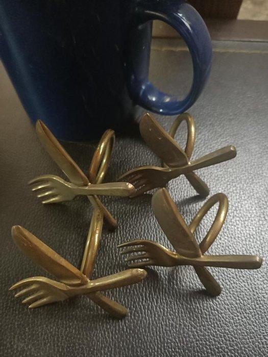 銅製口巾環 歐洲 收藏 餐巾餐桌 家庭裝飾 刀叉