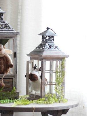 ღ萊姆森林【復古玻璃窗燭台 現貨】現貨【FG18050001】