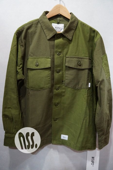 「NSS』WTAPS 18 BUDS LS 01 SHIRT COTTON SATIN 襯衫 S