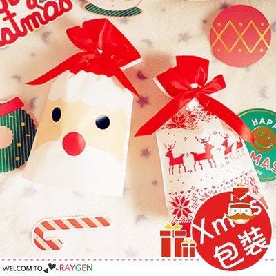 八號倉庫 卡通聖誕麋鹿系列禮品抽繩包裝袋 束口袋 單售【1T202P289】