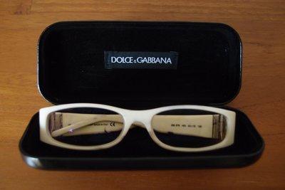 DOLCE&GABBANA男性眼鏡鏡架(兩眼有度數-重點賣鏡架)-made  in  italy