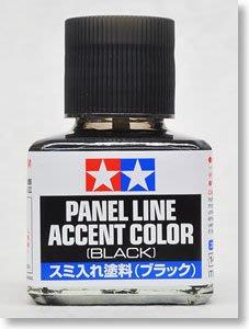 【TAMIYA 87131】入墨線塗料/黑色