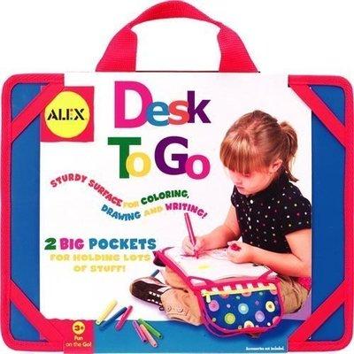 [小寶的媽]【美國ALEX我的旅行畫板Alex Toys Desk To Go 】 特價650
