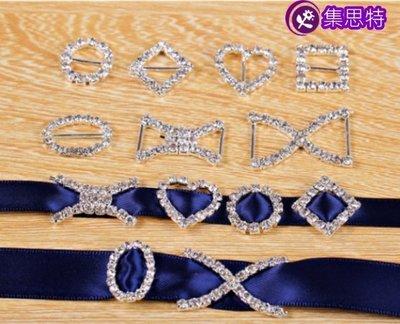 日字扣/心形鑽扣/diy飾品配件/蝴蝶结材料/集思特緞帶美學髮飾(1006-6)3