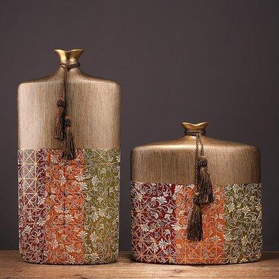 〖洋碼頭〗新中式陶瓷貼花花瓶創意軟裝家居裝飾品客廳電視櫃玄關樣板間擺件 ysh791