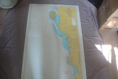藍色小館46-1-DEPTHS IN METRES航海圖-PULAU PINANG TO KEPULAUAN SEMB