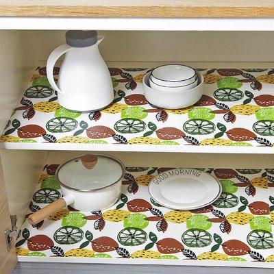 居家優思居 多 櫥柜印花防潮墊 家用廚房鞋柜抽屜墊桌面防油防水墊