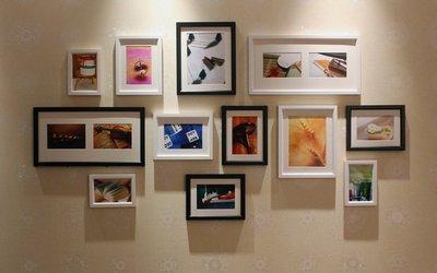 北歐經典相片牆 簡約12框 實木相框 相片牆,大全配免釘牆贈卡紙+藍丁膠只要$1100,新品上架免運優惠10組
