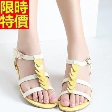 平底涼鞋 夾腳拖鞋-甜美糖果色淡雅氣質女休閒鞋子2色67d31[獨家進口][米蘭精品]