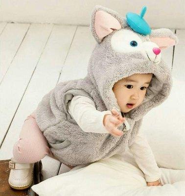 可愛達菲系列動物造型加厚連帽背心