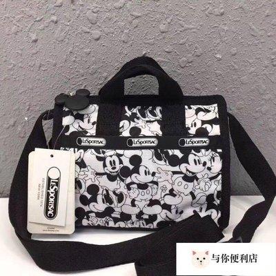 LeSportsac 3273 黑白米奇 聯名系列 小號斜背手提防水兩用包  限量 小號 迪士尼#与你便利店#