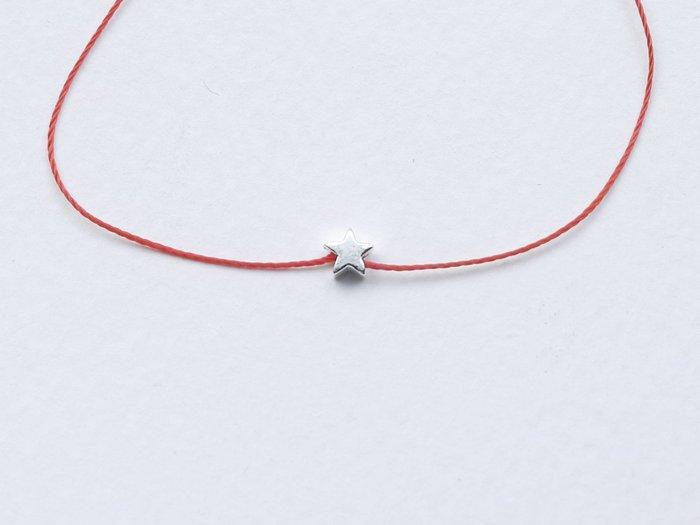 [Le Bonheur Line] 幸福線 手工訂製 / 925純銀 小星星 / 紅線  手鏈 手鍊 飾品 韓國 迷你