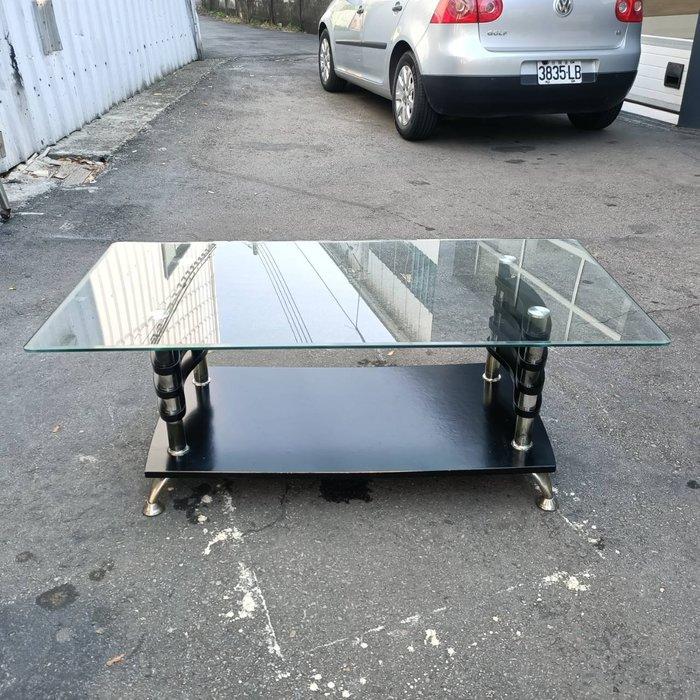 非凡二手家具 2x4尺玻璃大茶几*置物桌*泡茶桌*下棋桌*寫字桌*客廳桌*吃飯桌*接待桌*矮桌*邊桌*玻璃桌*長方形茶几