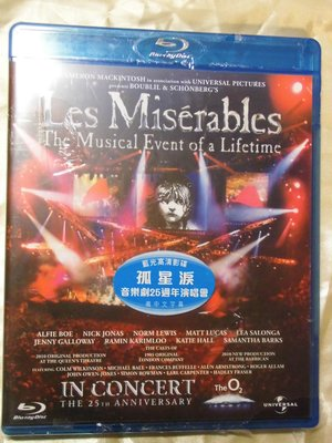 全新) Les Miserable 悲慘世界/孤星淚 25週年紀念演唱會 藍光BD 有中文字幕