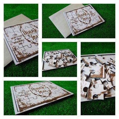 竹藝坊-客製卡片/手工卡片/木頭雷雕/拼圖卡片/感謝卡/賀卡/邀請卡