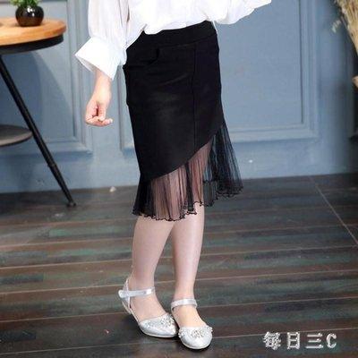 中大尺碼女童裝新款兒童半身裙韓版純色魚尾裙 zm5552