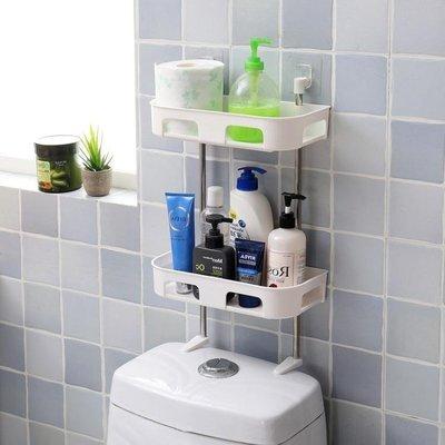 櫻花SHOP 衛生間免打孔馬桶置物架廁所浴室吸盤壁掛式收納架洗漱臺整理角架YH863