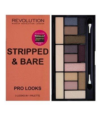 ☆Bonjour Bio☆ 英國 Makeup Revolution 15色眼影盤 Stripped & Bare