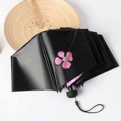 天堂傘防曬防紫外線遮陽傘女太陽傘女神黑膠小清新兩用晴雨傘折疊