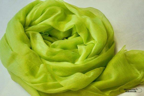 頂級300支 Super fine 100% cashmere青蘋果色pashmina Shahmina喀什米爾圍巾披肩