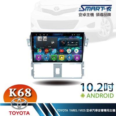 【SMART-R】TOYOTA YARIS / VIOS 10.2吋安卓6+128 Android主車機-極速八核心K6