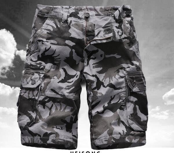 韓系夏季男裝印花工裝褲 迷彩短褲男大碼時尚五分褲沙灘褲 A89