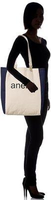 Anello - 2-WAY 綿製文青手提布袋 AU-B2241-NV 深藍色