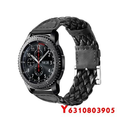 【世紀】博能 Polar Grit X 手錶錶帶 編織紋 針扣真皮錶帶 22mm接頭 頭層牛皮