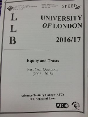 University of London (UOL) PolyU SPEED Equity and Trusts