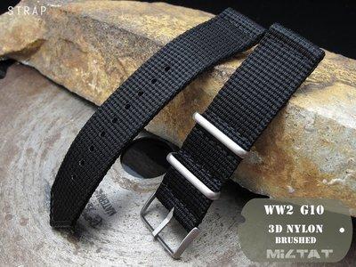 【太空人】MiLTAT 22mm WW2二戰G10軍款3D尼龍黑色錶帶拉砂扣_22B22BBU57N9A48