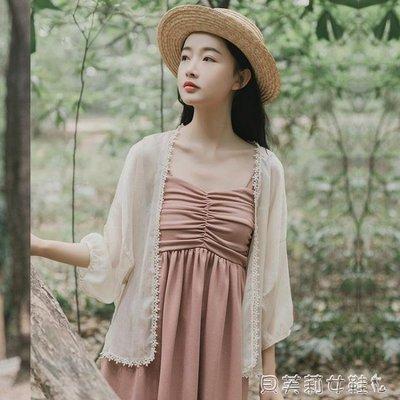 防曬衣超仙女防曬衣開衫女夏季外小外套外披雪紡薄披肩短款