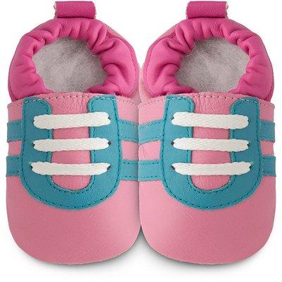 【愛寶貝】英國 shooshoos 健康無毒真皮手工學步鞋/嬰兒鞋/室內保暖鞋_格洛莉雅_102785 (公司貨)
