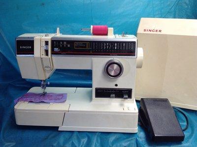 家庭用縫紉機二手勝家SINGER 6245型 、拼布 、學生、家用兩皆宜~(保固半年)