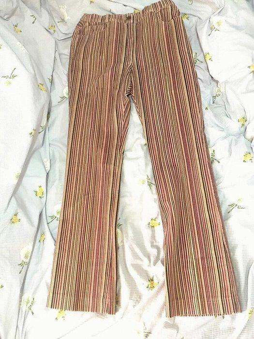 義大利製MARINA RINALDI直條紋燈芯絨長褲