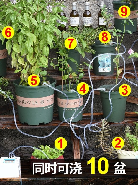 自動澆花器全智能澆水器陽臺植物定時澆花淋花滴水器盆栽滴灌系統-易購生活館