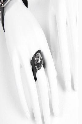 【黑店】原創設計設計師訂製款簡約龐克皮戒指 金屬圓環個性皮戒指 龐克金屬環個性戒指 龐克暗黑系飾品 百搭飾品XY123