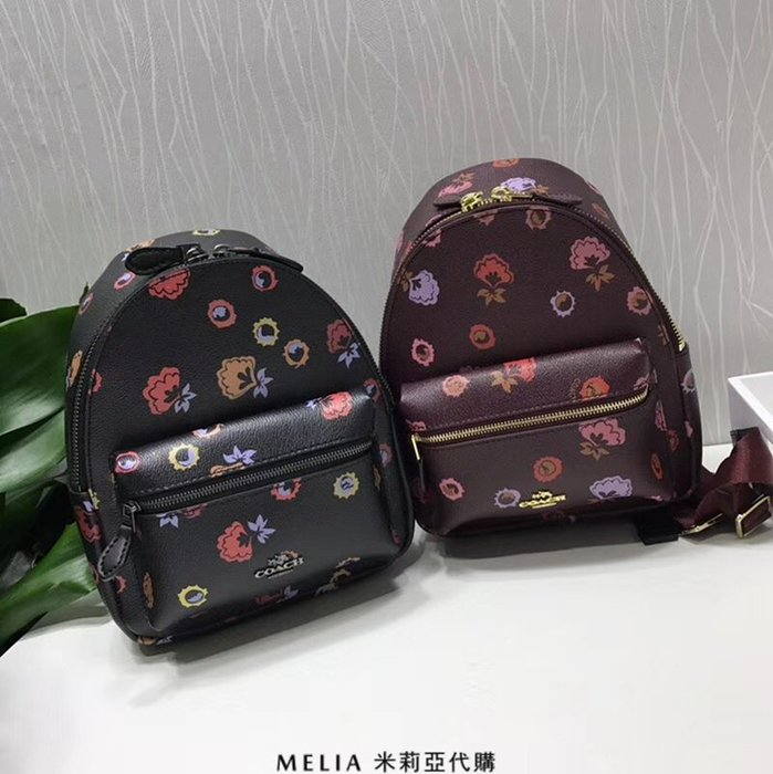 Melia 米莉亞代購 COACH 2018年新款 F22234 春季款 書包 雙肩包 背包 旅行包 黑色 酒紅色