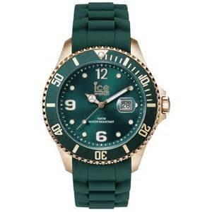 [永達利鐘錶 ] ICE watch 玫瑰金殼綠色日期膠帶錶12IS.FOR.B.S.13原廠公司保固24個月/45mm