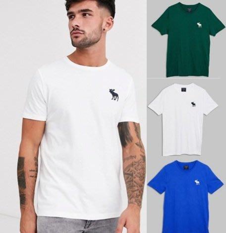 AF Abercrombie&Fitch 大麋鹿 logo 素T 短袖 T恤 三件裝