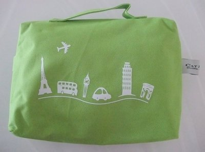 CAT DANCE 旅行盥洗包   帆布高質感    今夏流行的青蘋綠 台北市