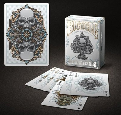 【USPCC撲克】Bicycle steampunk bandit white playing cards