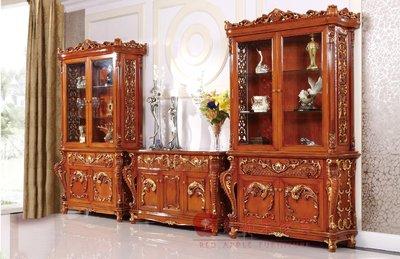 [紅蘋果傢俱] A134R 艾廷軒系列 頂級進口 歐式 法式  新古典 金箔雕花 四門電視櫃 餐櫃 玄關 酒櫃 櫥櫃