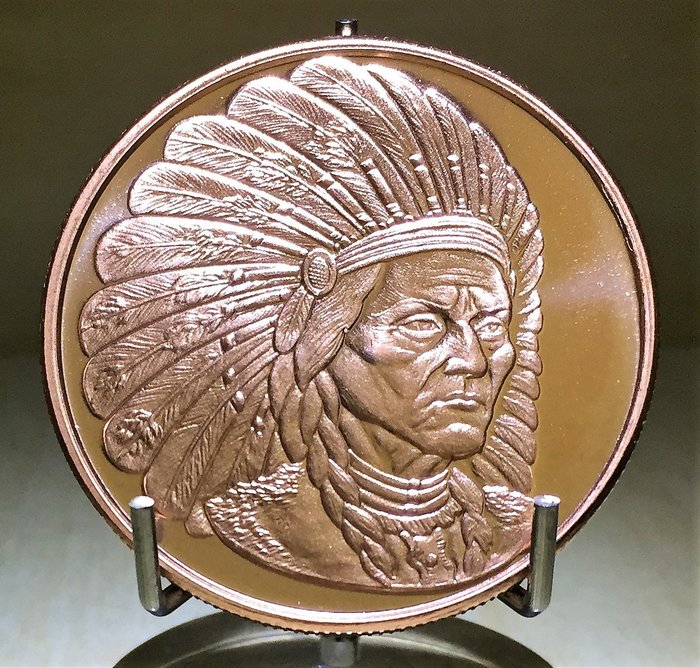 神聖人物 Sitting Bull 純銅幣 (1 oz)