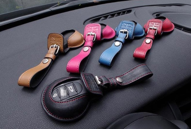車飾-英國迷你Min新i Cabrio 新Cooper Paceman Hatch F56 鑰匙包頭層牛皮-特惠