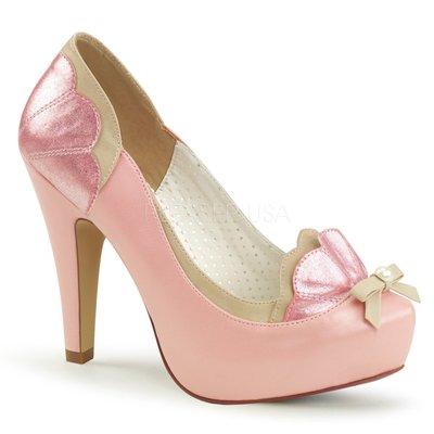 Shoes InStyle《四吋》美國品牌 PIN UP CONTURE 原廠正品拚色厚底高跟包鞋 出清『駝粉紅色』