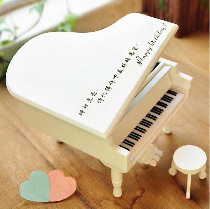 【優上精品】新新穎款可免費刻字木質鋼琴音樂盒八音盒天空之城生日禮物送男女友閨(Z-P3132)
