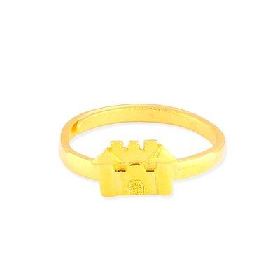 【JHT 金宏總珠寶/GIA鑽石】0.79錢 房子黃金戒指 (請詳閱商品描述)