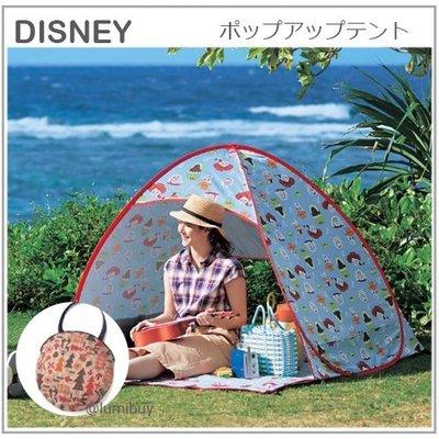 【正版】日本限定 DISNEY 迪士尼 玩具總動員 奇奇蒂蒂 胡迪 UV 秒開 帳篷 露營 野餐 遮陽 防水 收納袋