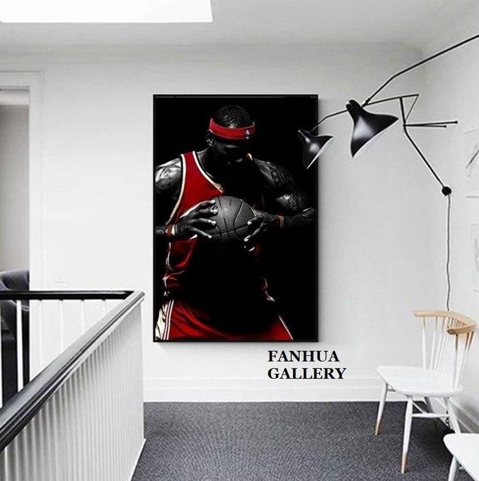 C - R - A - Z - Y - T - O - W - N NBA籃球明星掛畫科比喬丹詹姆斯史蒂芬庫里裝飾畫洛杉磯湖人隊邁阿密熱火隊經典人物掛畫收藏畫